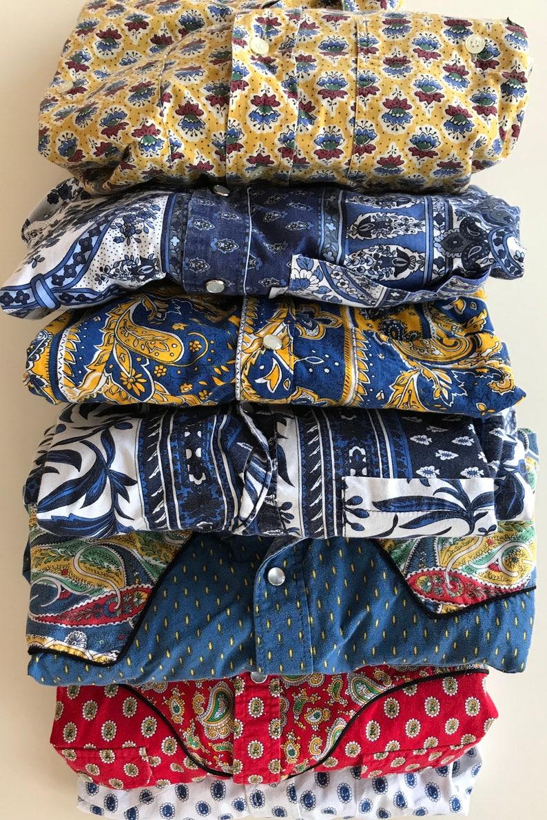 the best attitude aa632 02bbd Francese Cowboy occidentale camicie - Francia Cowboy Provenza camicia -  così Cool! -Ricco sud di modello e colore grassetto Francia