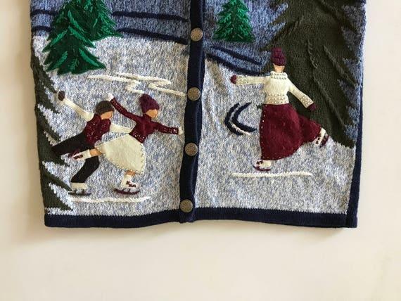 Christmas Skating Sweater - Enchanting Boy and Gir