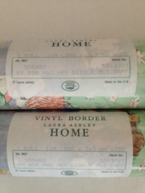 Frontiere De Laura Ashley Papier Peint Hey Diddle Diddle Etsy
