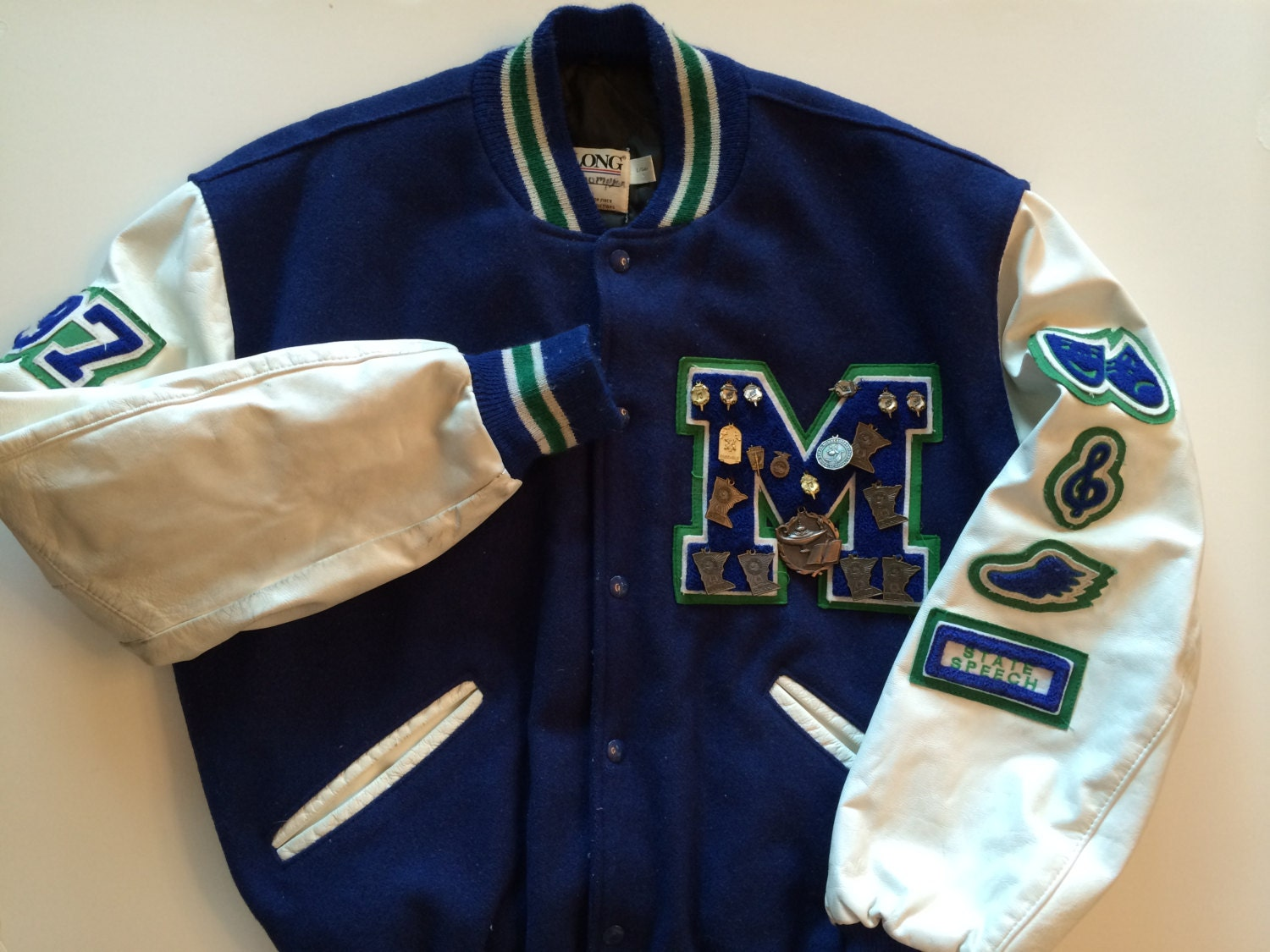 letter jacket patches varsity letter jacket amazing school jacket in blue green 22892 | il fullxfull.805193011 clga