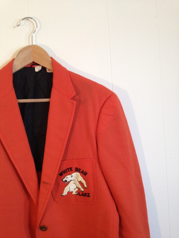 Orange Sport Coat for Men / Menswear / White Bear