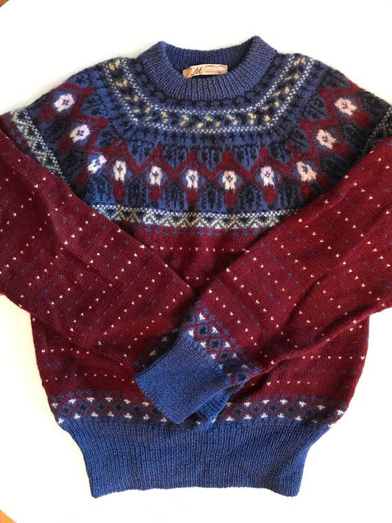 60a809710b8a9c Vintage Scandinavian Sweater Fantastic Hand Knit Wool