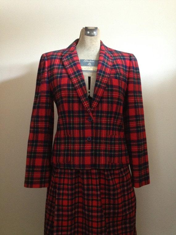 Tartan Plaid Pendleton Jacket - Lovely Stewart Tar