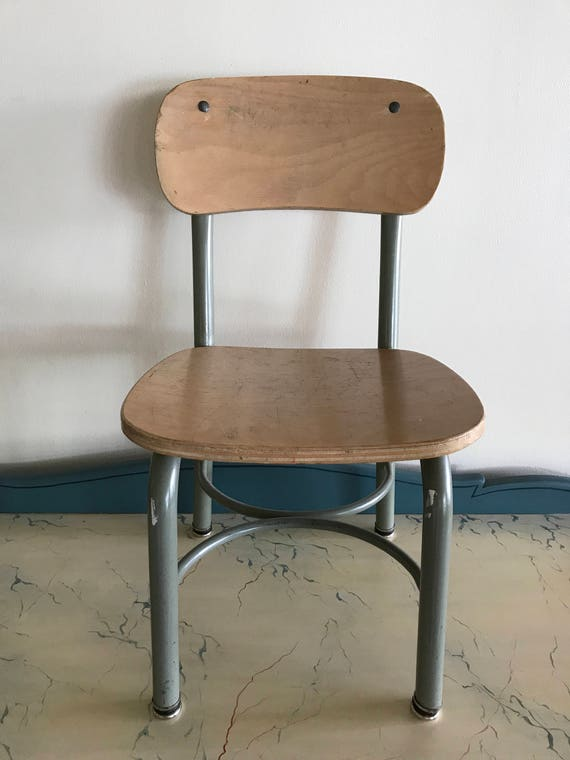 Marvelous Vintage School Chair 5 Available Charming Small Old School Decor Honey Wood W Metal Frame Cottage Nursery Ocoug Best Dining Table And Chair Ideas Images Ocougorg