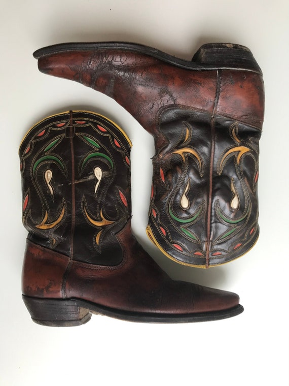 Texas Cowboy Boots  in Chestnut & Chocolate Brown-