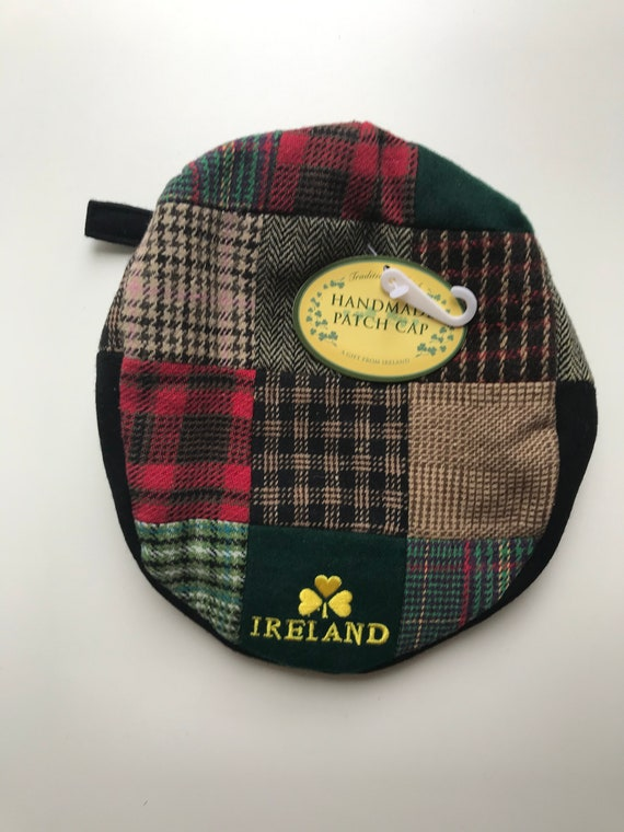 Ireland Tartan Plaid Hat -Irish Tweed Tam Beret -