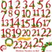 Fawn Sorgi reviewed Christmas Numbers Clipart, Mistletoe Christmas numbers, Happy holidays numbers, Commercial Use, instant download, AMB-2128