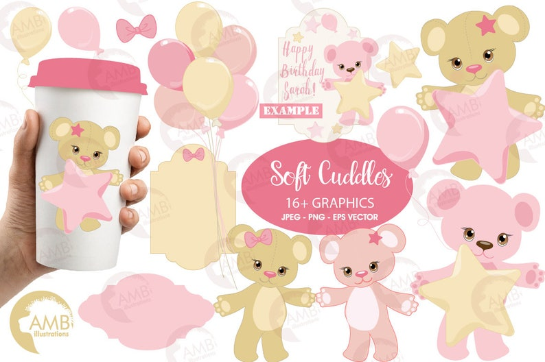 Baby Girl Clipart Nursery Birthday party Baby Shower for a image 0