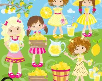 Lemonade clipart, Lemonade stand clipart, Lemonade party clipart, lemon clip art, commercial use, digital clip art, AMB-890
