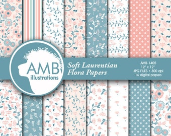 Shabby Chic paper, Floral Digital Papers, Shabby Chic Floral, Wedding papers, Floral Pattern, Comm-use, AMB-1405