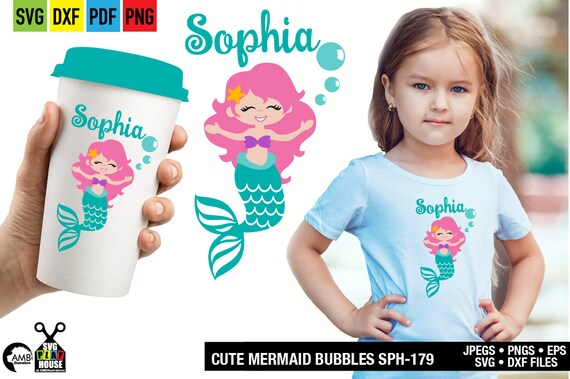 Mermaid Svg Svg Files Mermaids Svg Cricut Cut Files Instant Download Commercial Use Sph 179 By Ambillustrations Catch My Party