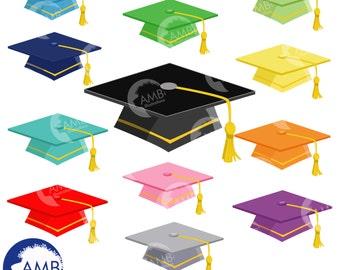 Graduation caps, Graduation caps clipart, commercial use, AMB-882