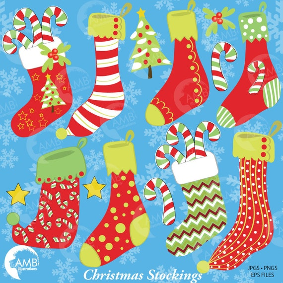 Christmas Eve Clipart.Christmas Stockings Clipart Holiday Clipart Christmas Eve