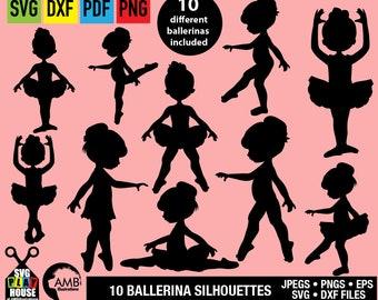 Ballerina SVG,  Svg Files, Cute ballet dancers, Favorite ballerina, Cricut Cut Files, Instant Download, commercial use SPH-133