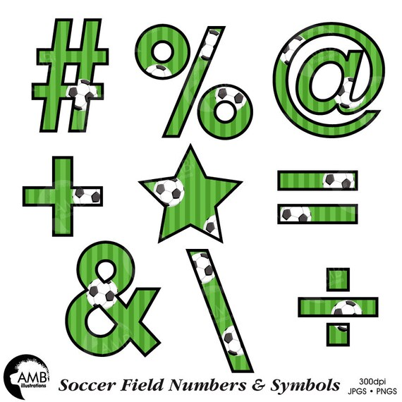 Soccer Number Clipart Football Clipart Sports Team Clipart Etsy