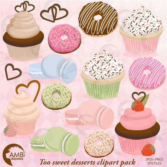 Kuchen Clipart Donut Clipart Backen Verkauf Clipart Clipart Etsy