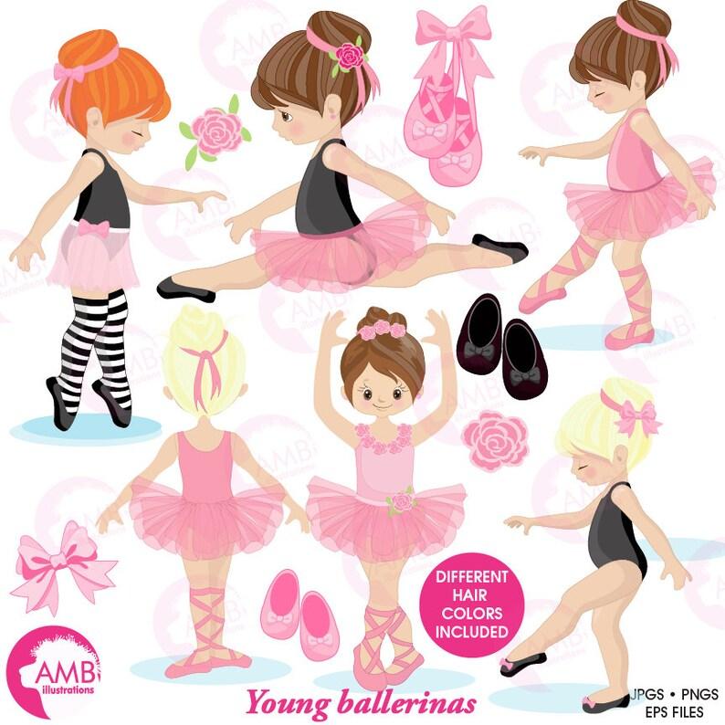 Ballerina clipart Ballet clipart pink ballerina girl image 0