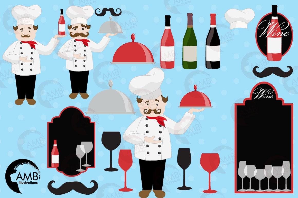 Chef clipart, Kitchen clipart, Wine clipart, Master chef clipart ...