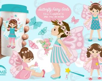 Fairy clipart, Fairy girls clipart, Butterfly clipart,  butterfly girls clipart, fairy clipart, AMB-1069