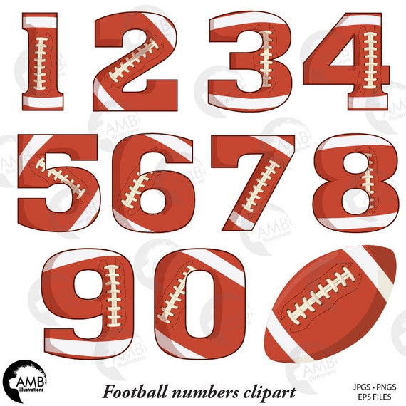 Football Numbers Clipart Gridiron Clipart Sports Teams