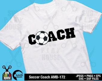 Soccer Coach svg, Distressed Grunge, Soccer grunge, Svg files for cricut, Iron on transfer, Dxf, png, cricut, silhouette SPH-172