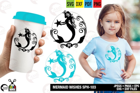 Mermaid Svg Svg Files Cute Mermaid Favorite Mermaid Beach Svg Cricut Cut Files Instant Download Commercial Use Sph 103 By Ambillustrations Catch My Party