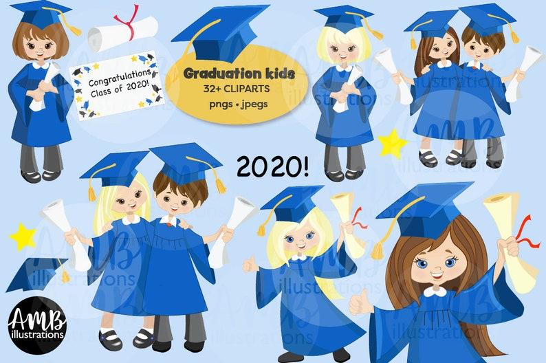 Graduation clipart graduation girls clipart vector graphics image 0