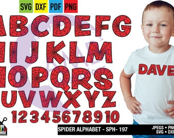 Spider Letters and numbers, superhero Letter clipart, Alphabet clipart,School Clipart, commercial use, AMB-2644