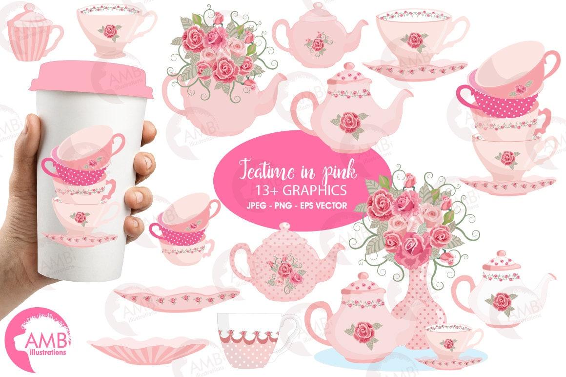 Tea time clipart Teapot Tea Party Clipart Tea pot tea | Etsy