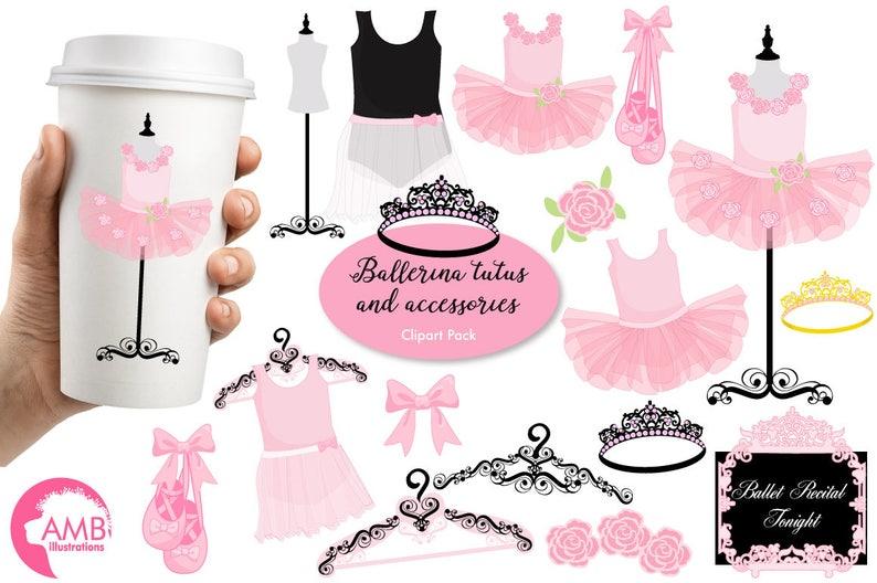 Ballerina clipart Ballet clipart ballerina tutus Pink image 0