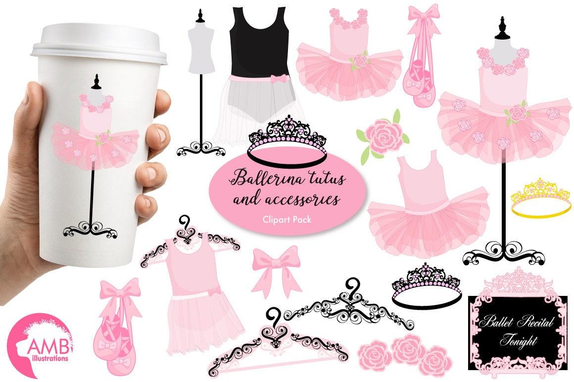 Ballerina clipart Ballet clipart ballerina tutus Pink | Etsy