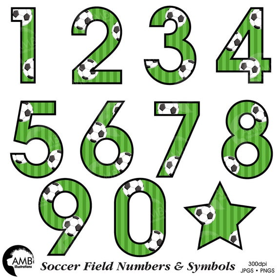 Soccer Number Clipart Football Clipart Sports Team Clipart Soccer