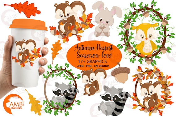 Commercial and Personal Use Forest Animal Clip Art Forest Animals Digital Stamps Woodland Animal Clip Art Forest Animals Clipart