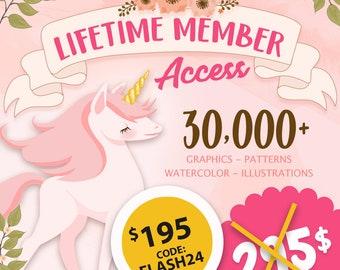 LIFETIME access - Premium Lifetime Membership of AMBillustrations database AMB-2114