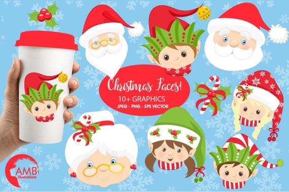 Christmas Faces Clipart Christmas Santa Clipart Mrs Claus
