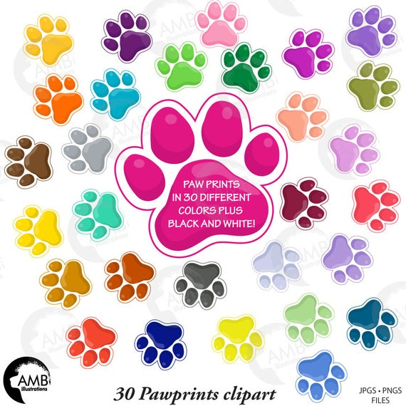 puppy paws clipart pet clipart dog paws dog paws with etsy