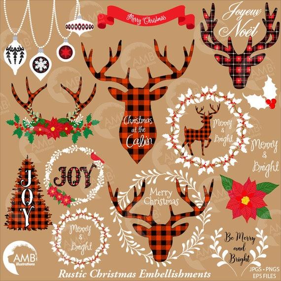 lumberjack christmas clipart buffalo plaid clipart buck clipart merry christmas clipart lodge clipart holiday clipart amb 2106 by ambillustrations catch my party lumberjack christmas clipart buffalo