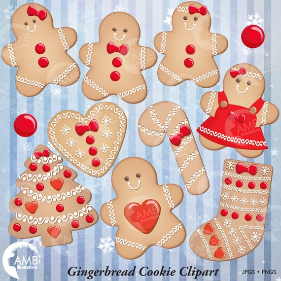 Christmas Cookie Clipart, Gingerbread Cookie Clip Art ...