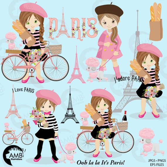 Paris Hair Accessories Eiffel Tower Hair Clips Small hand stitched gift with paris theme