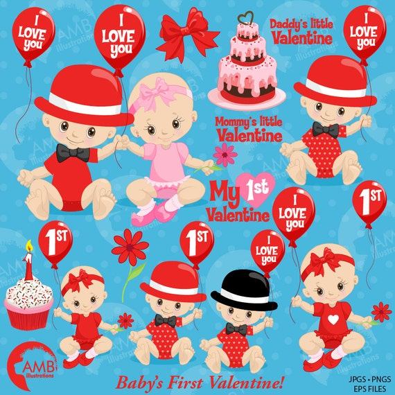 Valentine Baby Clipart Valentine Clipart Love Clipart Cute Etsy