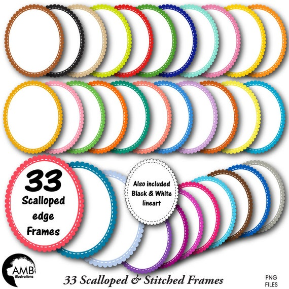 Frames Clipart Fancy Bright Colored Oval Frames Transparent Frames