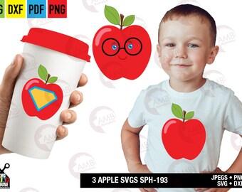APPLE svg, Super teacher apple, Svg files for cricut, apple svg, Iron on transfer, Dxf, png, cricut, silhouette SPH-193