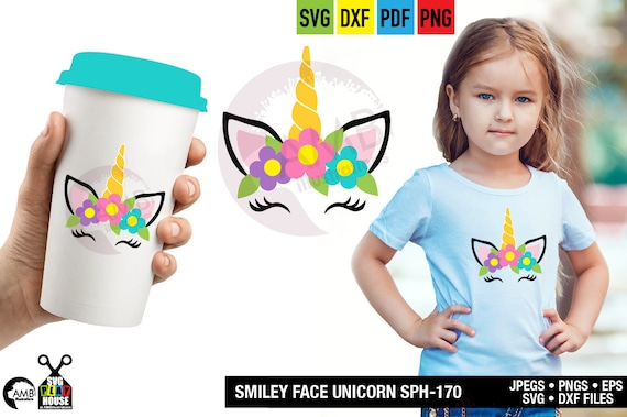 Unicorn Svg Magical Unicorn Svg Unicorn Face Svg Silhouette Cut File Cricut Cut Files Dxf Png Svg Iron On Sph 170 By Ambillustrations Catch My Party