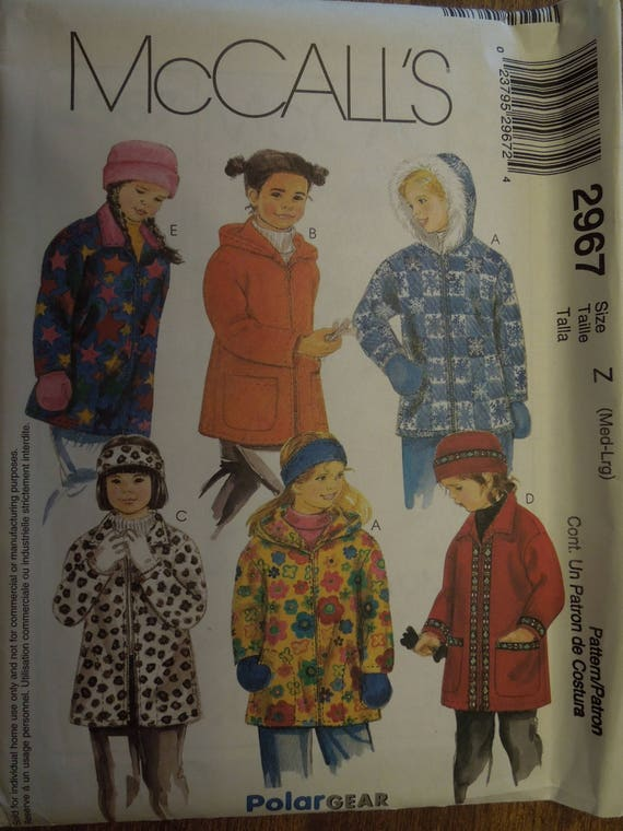 McCalls 2967 sizes medium large UNCUT sewing pattern | Etsy
