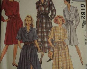 McCalls 6182, sizes 10-14, dress, UNCUT sewing pattern, craft supplies,