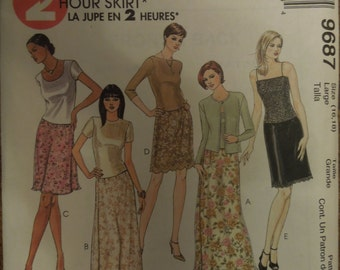 McCalls 9687, sizes 16-18, UNCUT sewing pattern, craft supplies, misses, womens