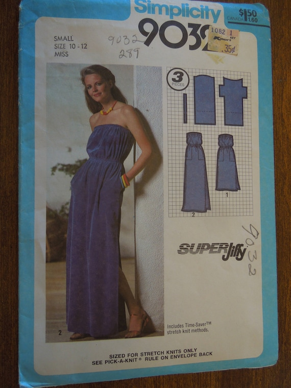 Pullover Dress For Stretch Knits Simplicity 9032 Sizes Etsy