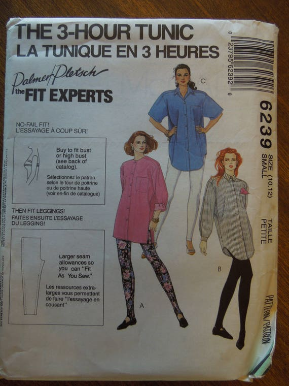 Mccalls 6239 Size 10 12 Tunic Misses Petite Uncut Sewing Etsy