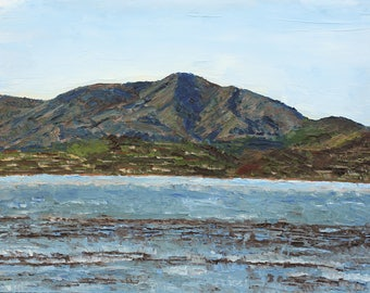 Low Tide on Richardson Bay- Palette Knife Oil Painting