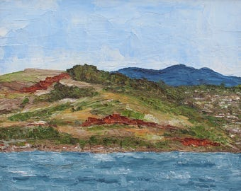 Marin Headlands- Palette Knife Oil Painting